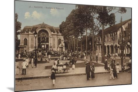 Boulevard Bonnard, Saigon, Cochinchina--Mounted Photographic Print