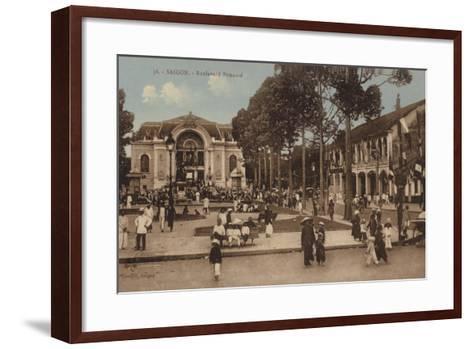Boulevard Bonnard, Saigon, Cochinchina--Framed Art Print