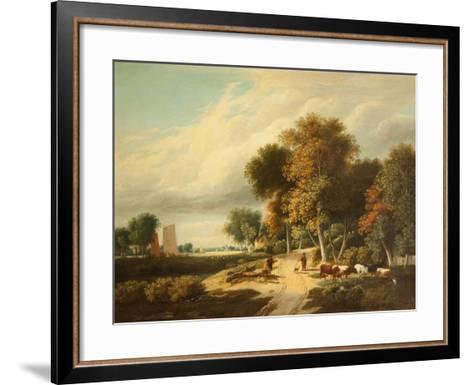 A Scene in Norfolk-Samuel David Colkett-Framed Art Print