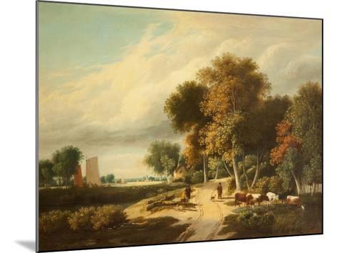 A Scene in Norfolk-Samuel David Colkett-Mounted Giclee Print