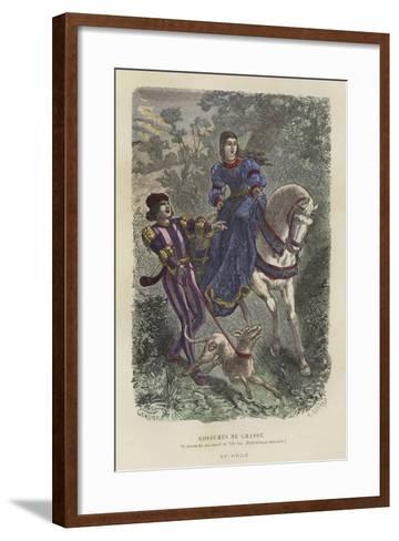 Hunting Dress, 15th Century--Framed Art Print