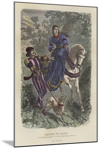 Hunting Dress, 15th Century--Mounted Giclee Print