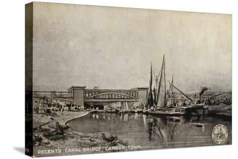 Regent's Canal Bridge, Camden Town--Stretched Canvas Print