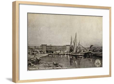 Regent's Canal Bridge, Camden Town--Framed Art Print