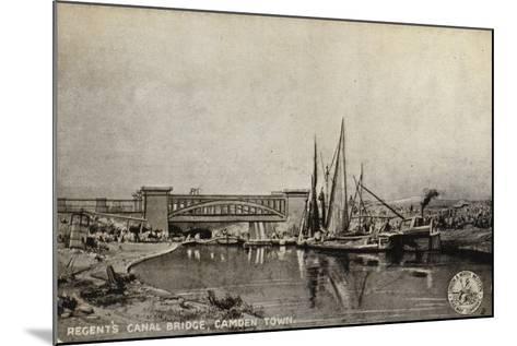Regent's Canal Bridge, Camden Town--Mounted Giclee Print