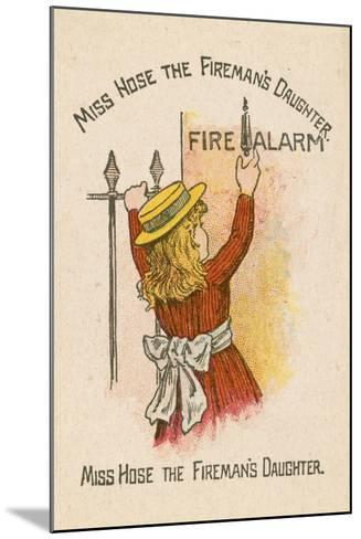 Miss Hose the Fireman's Daughter--Mounted Giclee Print