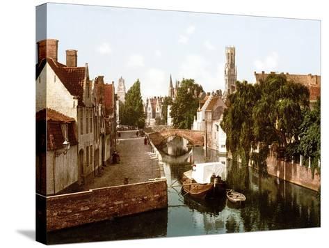 Le Quai Vert, Bruges--Stretched Canvas Print