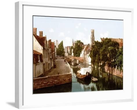 Le Quai Vert, Bruges--Framed Art Print