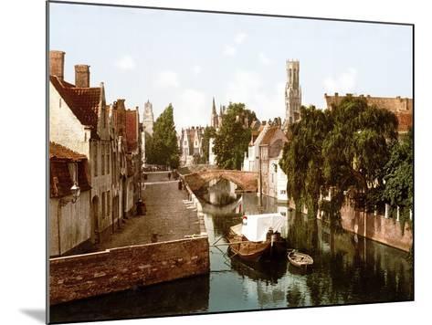 Le Quai Vert, Bruges--Mounted Giclee Print