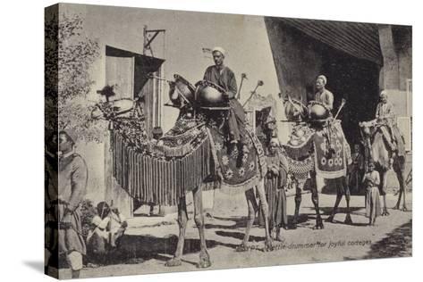 Egypt - Kettle Drummer for Joyful Corteges--Stretched Canvas Print