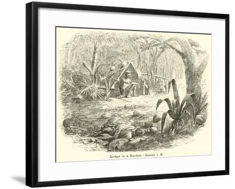 Lodge in a Garden, Isaiah, I, 8--Framed Art Print