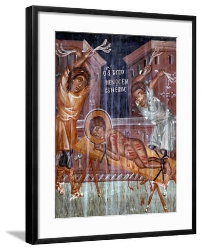 Scene from the Martyrdom of St George-Symeon Axenti-Framed Art Print