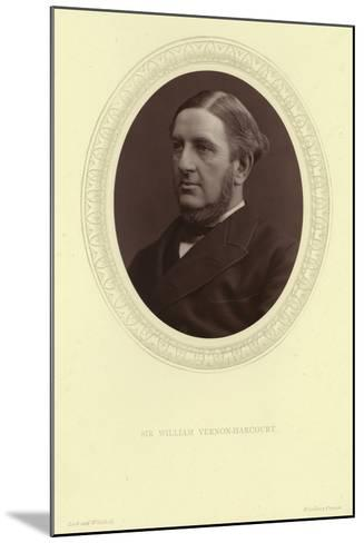 Portrait of Sir William Vernon Harcourt--Mounted Photographic Print