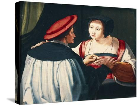 The Engagement, 1527-Lucas van Leyden-Stretched Canvas Print