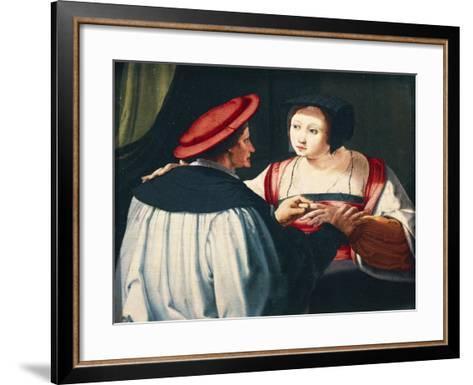 The Engagement, 1527-Lucas van Leyden-Framed Art Print