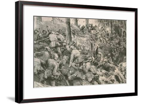 From the Battle in the Vosges--Framed Art Print