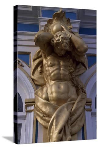 Telamon, Decorative Statue of Catherine Palace--Stretched Canvas Print