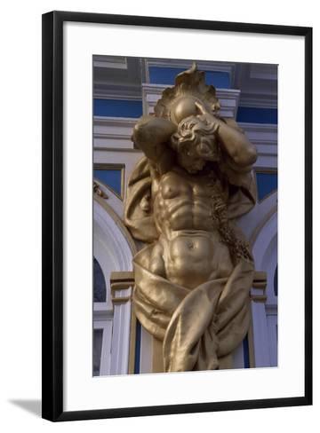 Telamon, Decorative Statue of Catherine Palace--Framed Art Print