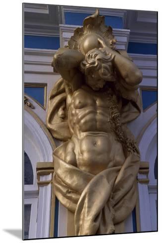 Telamon, Decorative Statue of Catherine Palace--Mounted Giclee Print
