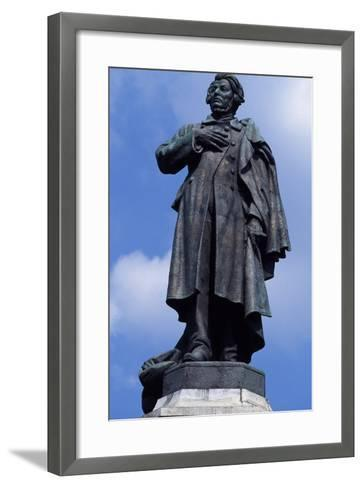 Statue of Adam Mickiewicz, Warsaw--Framed Art Print