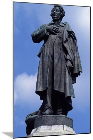 Statue of Adam Mickiewicz, Warsaw--Mounted Photographic Print