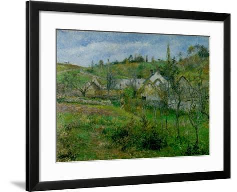 The Valhermeil, Near Pontoise, 1880-Camille Pissarro-Framed Art Print