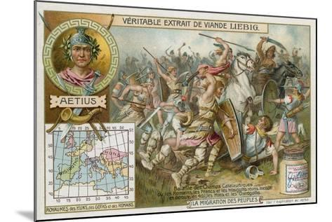 Battle of the Catalaunian Plains, 451--Mounted Giclee Print