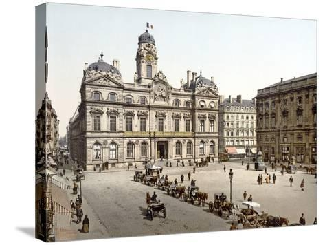 Lyon Town Hall from Place De Terreaux, 1890-1900--Stretched Canvas Print