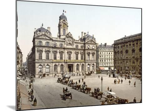Lyon Town Hall from Place De Terreaux, 1890-1900--Mounted Photographic Print