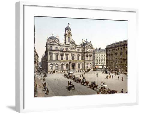 Lyon Town Hall from Place De Terreaux, 1890-1900--Framed Art Print