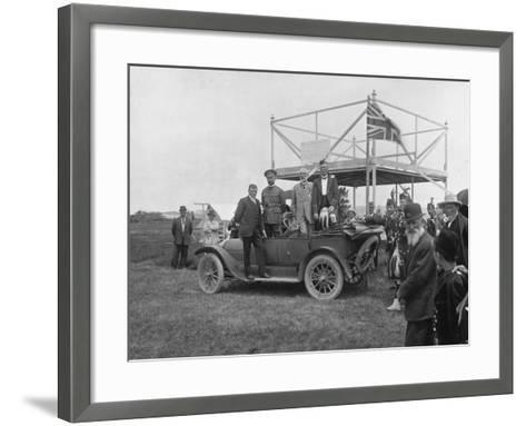 Patriotic Sports on New Year's Day, 1916--Framed Art Print