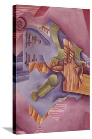 Still Life with Violin and Glass-Juan Gris-Stretched Canvas Print