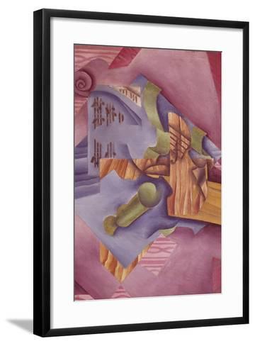 Still Life with Violin and Glass-Juan Gris-Framed Art Print