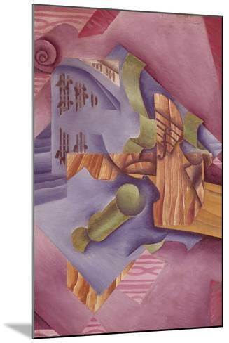 Still Life with Violin and Glass-Juan Gris-Mounted Giclee Print