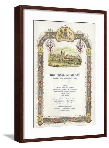 Menu for the Royal Luncheon--Framed Art Print