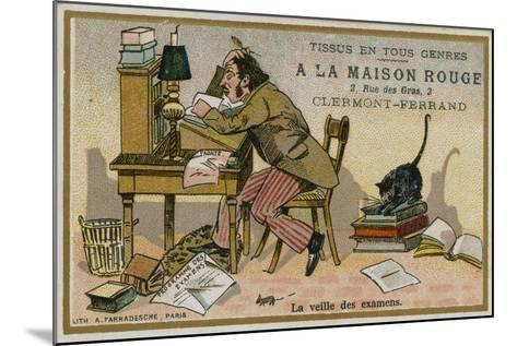 La Maison Rouge Trade Card, the Eve of the Exams--Mounted Giclee Print