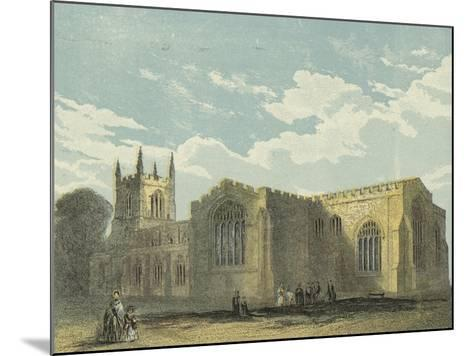Bangor Cathedral, South East View--Mounted Giclee Print