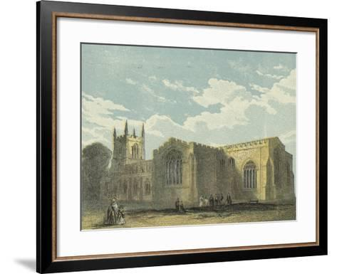 Bangor Cathedral, South East View--Framed Art Print