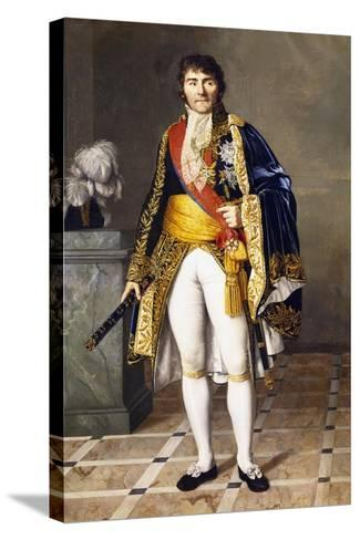 Portrait of Pierre Francois Joseph Lefebvre--Stretched Canvas Print