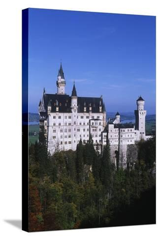 Germany, Bavaria, Neuschwanstein Castle--Stretched Canvas Print