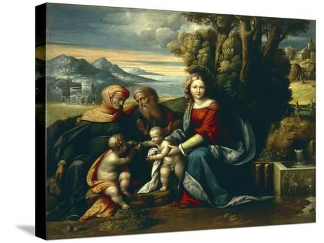 Holy Conversation-Benvenuto Garofalo-Stretched Canvas Print
