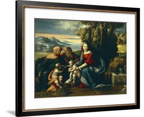 Holy Conversation-Benvenuto Garofalo-Framed Art Print