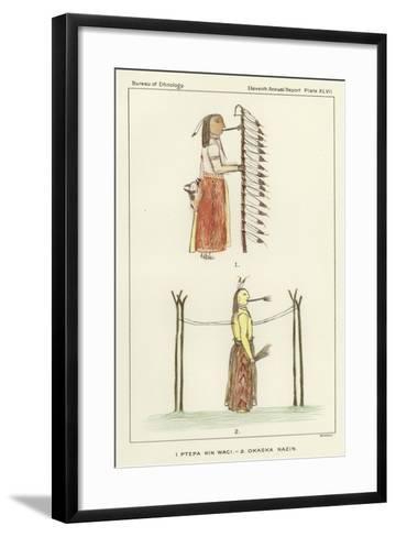 1 Ptepa Kin Waci, 2 Okaska Nazin--Framed Art Print