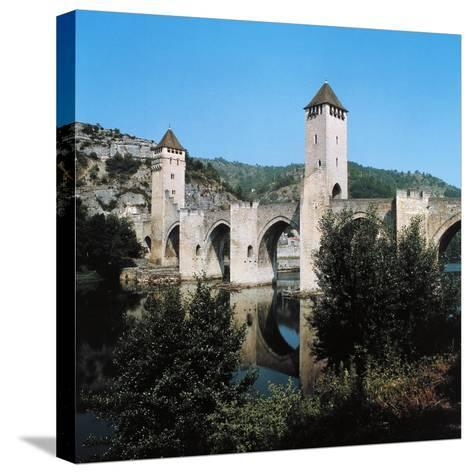 Valentre Bridge--Stretched Canvas Print