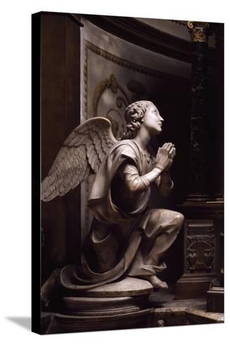 Adoring Angel-Matteo Di Giovanni Civitali-Stretched Canvas Print