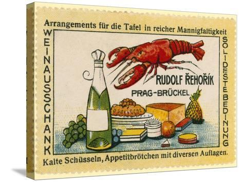 Rudolf Rehorik Wine Bar--Stretched Canvas Print