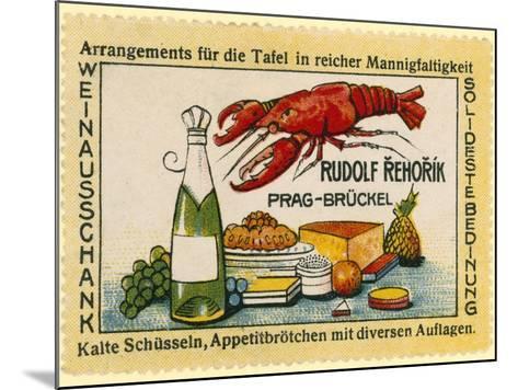 Rudolf Rehorik Wine Bar--Mounted Giclee Print