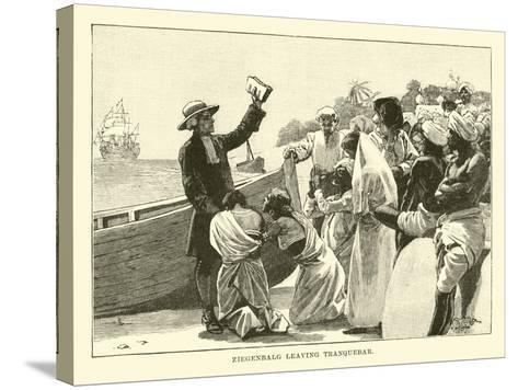 Ziegenbalg Leaving Tranquebar--Stretched Canvas Print