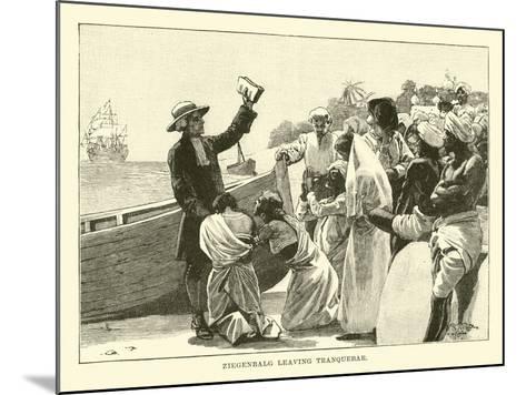 Ziegenbalg Leaving Tranquebar--Mounted Giclee Print