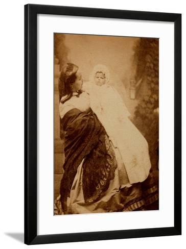 Woman with Her Child--Framed Art Print